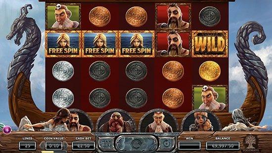 Pre-free spin bonus