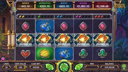 Spellbook bonus game