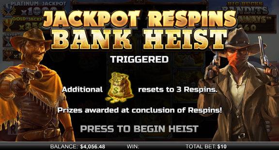 Jackpot Respins Bank Heist